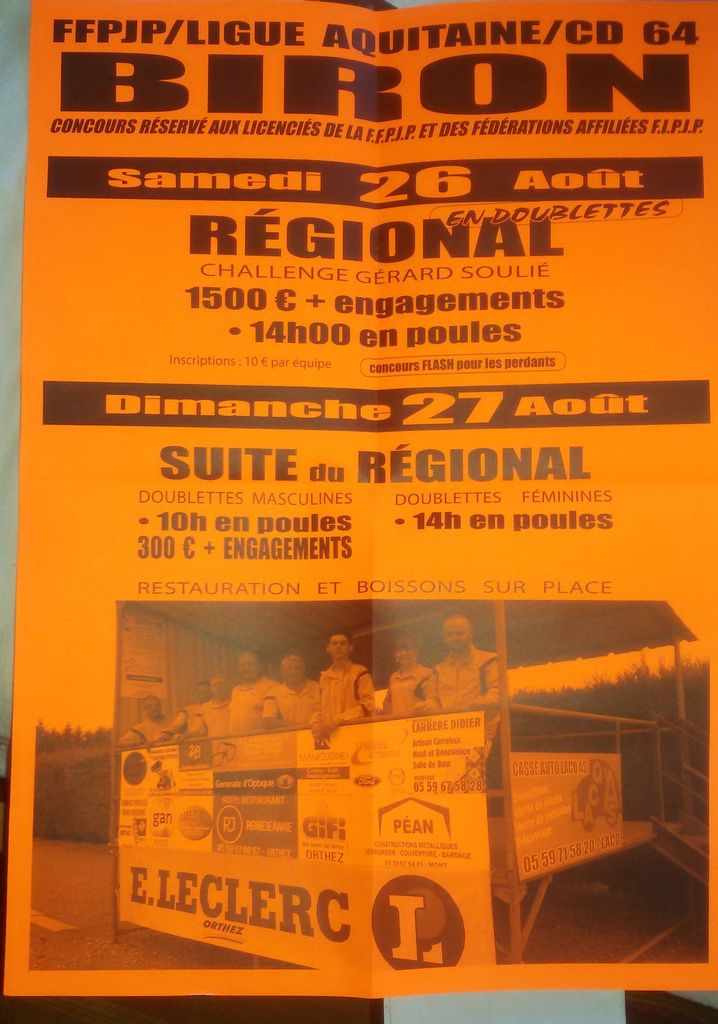 BIRON - 64 - Régional les 26 et 27 août