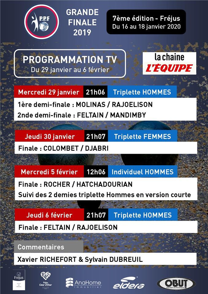 PPF programmation tv du 29 Janvier au 6 Fevrier