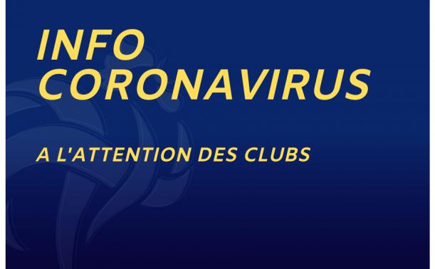 Coronavirus . Suspension de toutes nos activités et compétitions