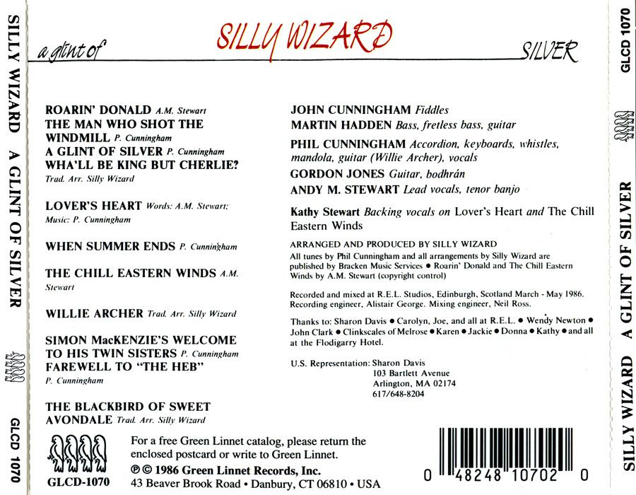 "Les albums de ma jeunesse (16) : Silly Wizard ""A glint of silver"""
