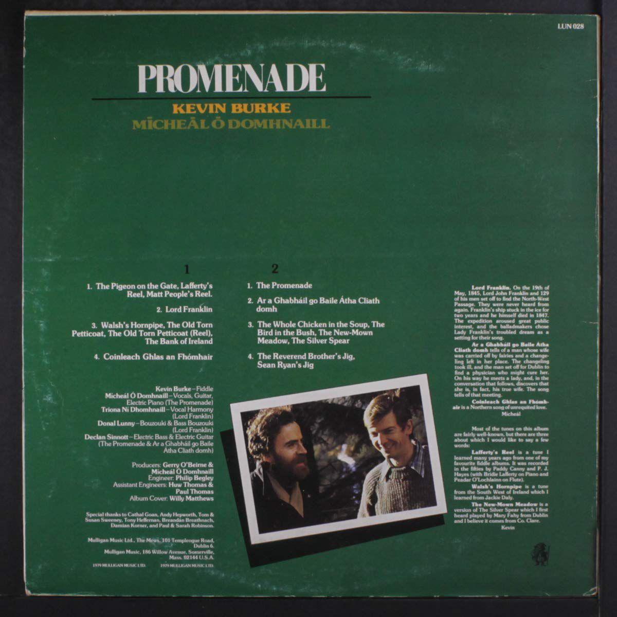 Les albums de ma jeunesse (20) Kevin Burke & Micheal O' Domhnaill : Promenade