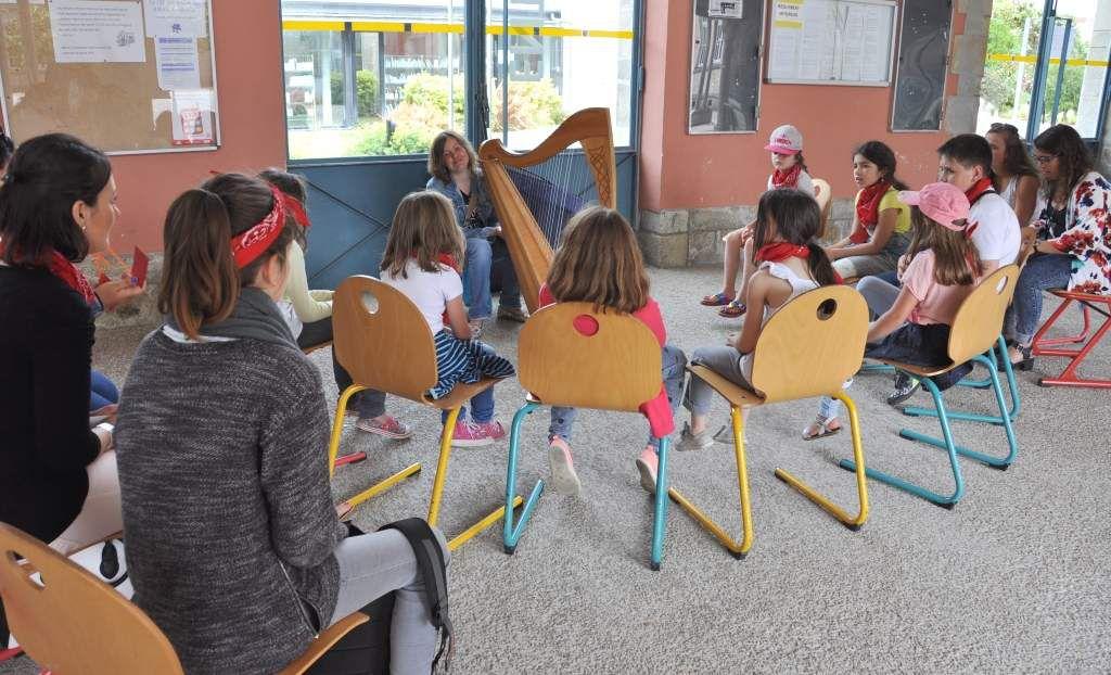 L'atelier harpe et l'atelier danse