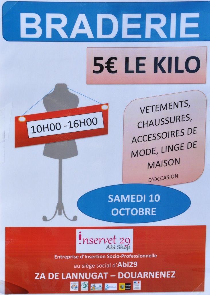 Inservet/Abi29 Braderie à Douarnenez ... 5€ le kilo...