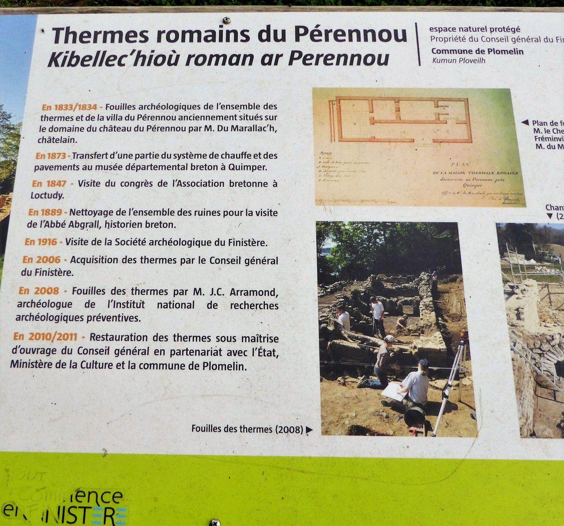 Les thermes romains du Pérennou à Plomelin