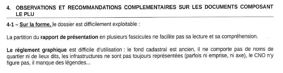 """"""" Sur la forme, le dossier [du PLU de Quimper]  est difficilement exploitable """" déplore la préfecture du Finistère"""