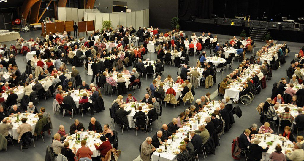 Plus de 600 convives aux repas des aînés de Quimper
