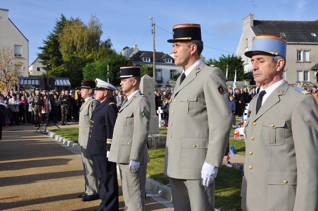 Le carré militaire et les médaillés