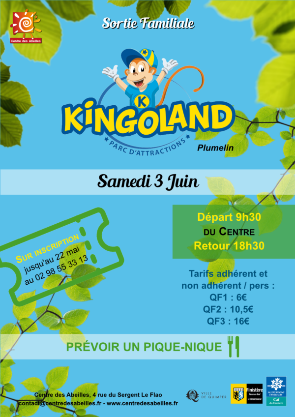 Abeilles : inscriptions possibles pour la sortie familiale à Kingoland