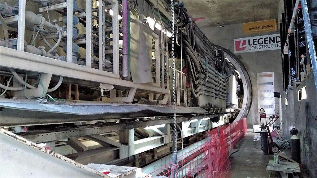 Visite au tunnelier Elaine sur le chantier de la future ligne B du métro de Rennes