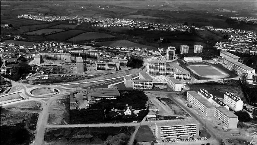 Source : archives municipales de Quimper (construction de la rocade - 1968)