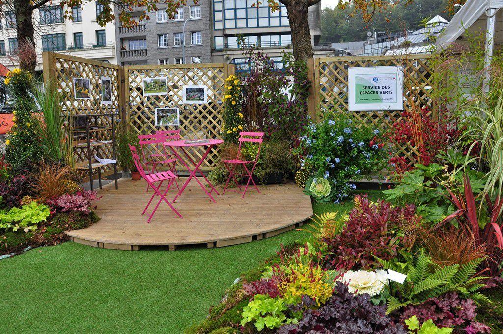 Le stand du service des espaces verts au marché d'automne de Quimper