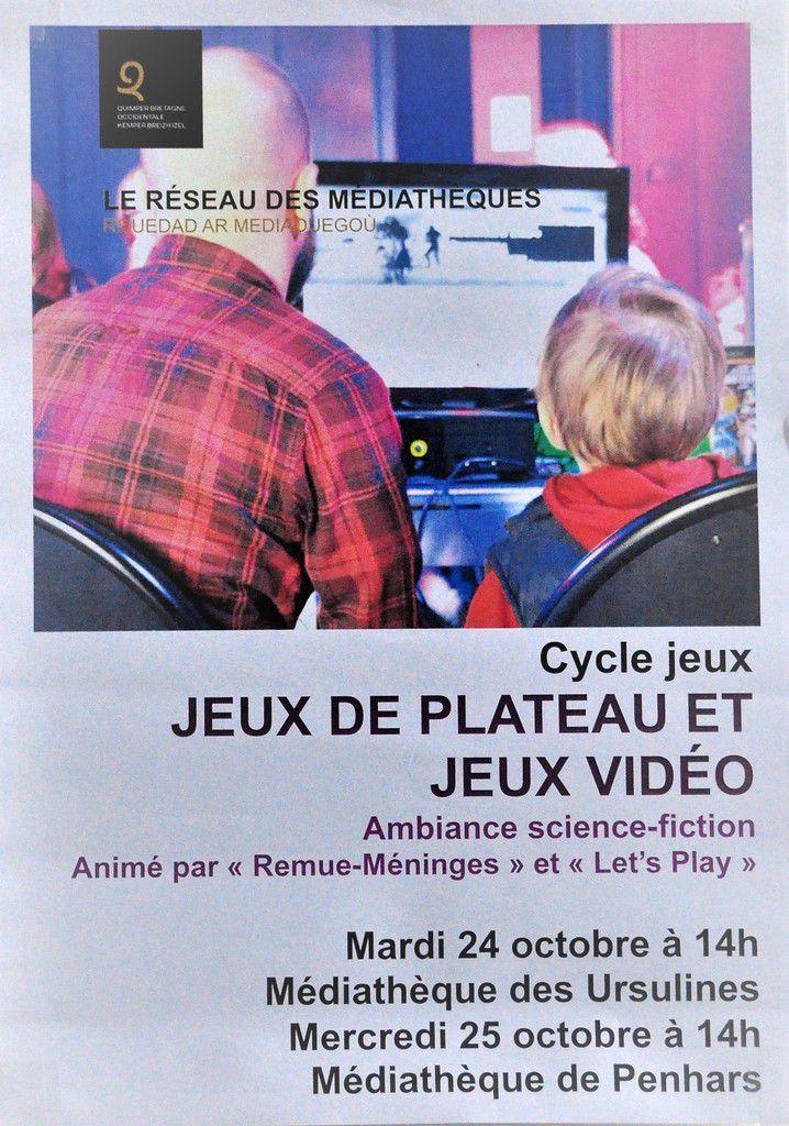 Jeux de plateau, demain 14h, à la médiathèque de Penhars