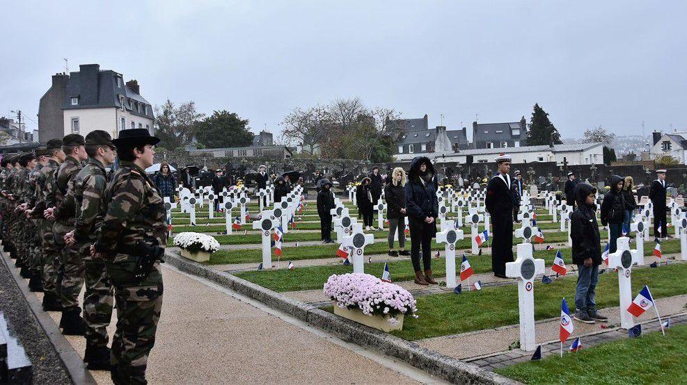 Cérémonie départementale de commémoration de l'Armistice ce matin à Quimper