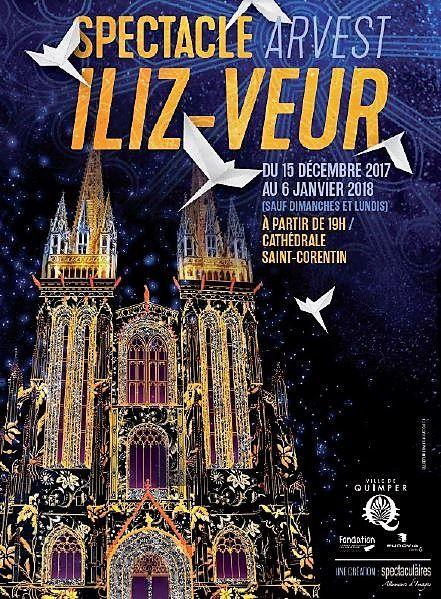 Du 15 décembre au 6 janvier : spectacle Iliz-Veur sur la cathédrale de Quimper