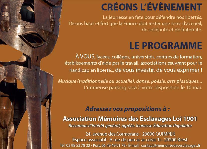 Association Mémoires des Esclavages ... pour préparer ensemble la journée nationale