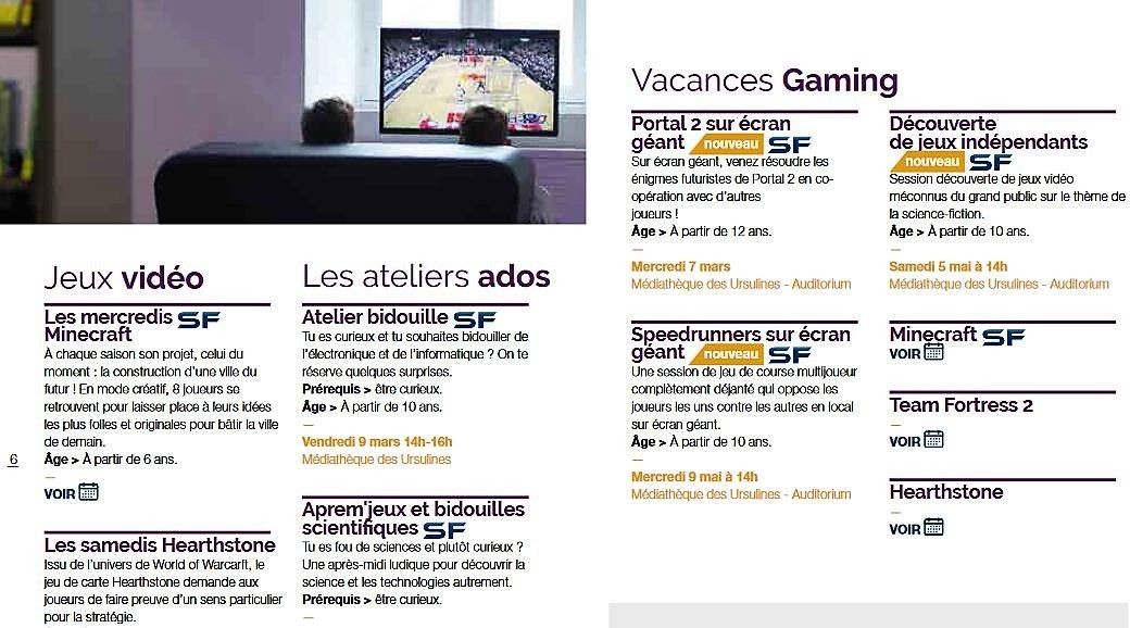 Nouveau : prêt de jeux vidéo dans les médiathèques de Quimper
