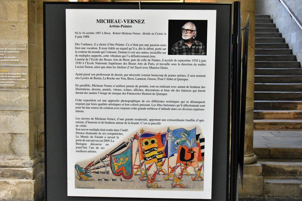 Robert Micheau-Vernez et les fêtes bretonnes : belle expo en mairie de Quimper