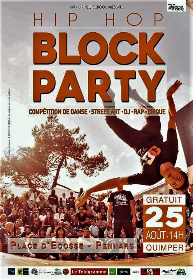 Hip Hop Block party le 25 août place d'Ecosse  à Quimper