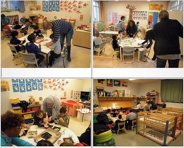 Ateliers de Noël, avec les parents, à l'école du bourg de Penhars (communiqué)