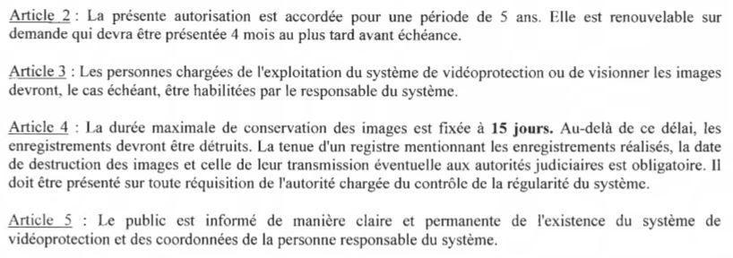 Autorisation préfectorale d'installation de caméras quai du Steïr et parking de Kermoysan