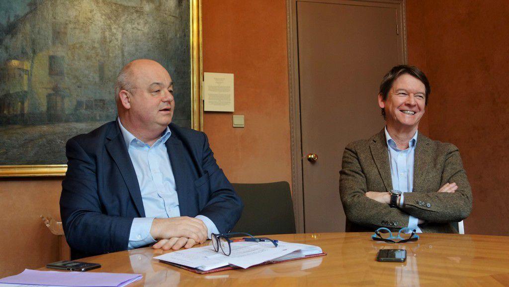 Ludovic Jolivet, maire de Quimper et Bernard Kéraudren, directeur de cabinet