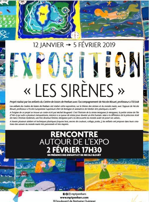 Les Sirènes ... une expo à la MPT de Penhars