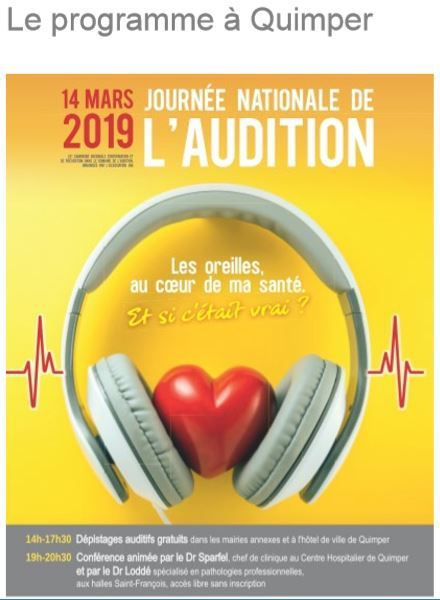 Jeudi 14 mars : journée nationale de l'audition