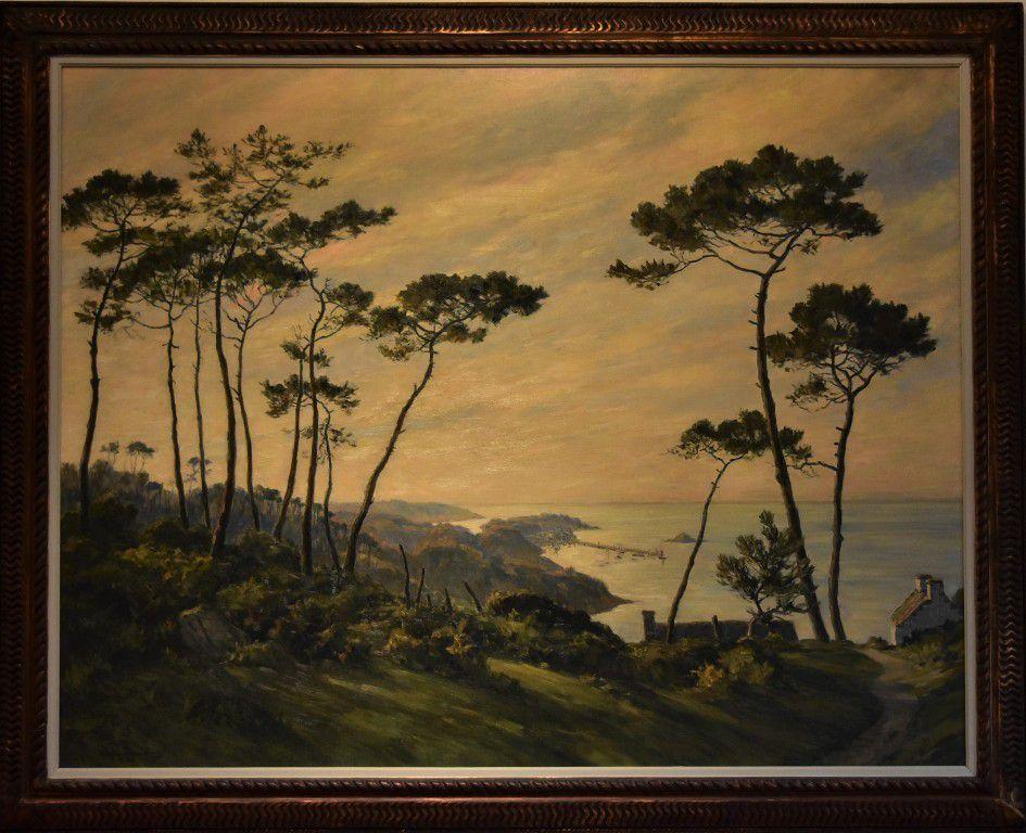 André Dauchez (1870-1948) Vers Douarnenez. Vers 1937 huile sur toile