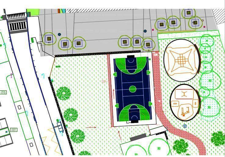 Des nouvelles du chantier du city-stade de Kermoysan