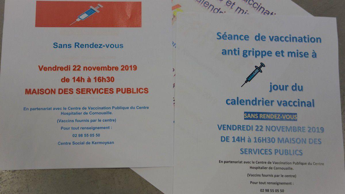 Vaccination gratuite contre la grippe et autres le 22 novembre à la MSP de Penhars