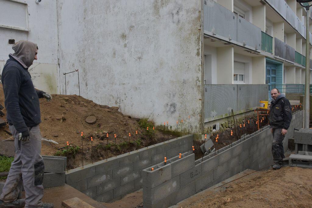 La réalisation des rampes d'accès