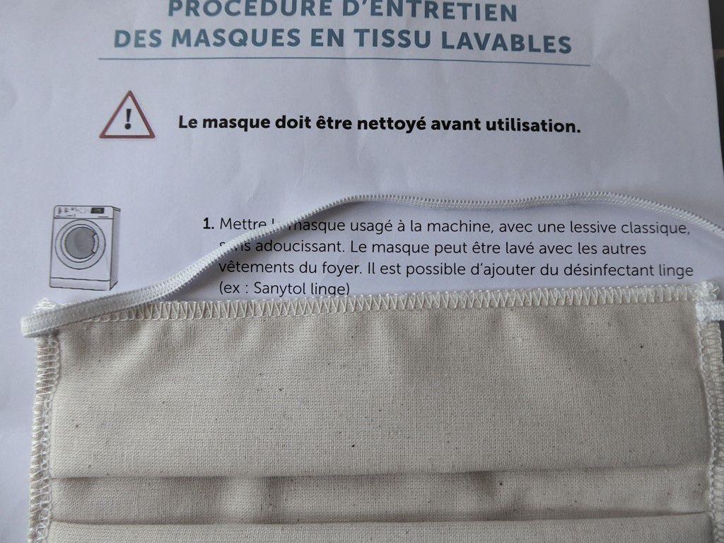 Faut-il laver le masque tissu Armor-Lux avant sa première utilisation