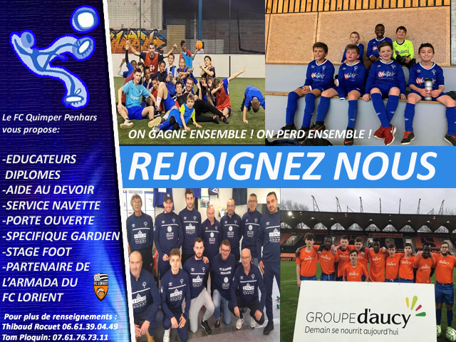 Football club Quimper Penhars (communiqué)