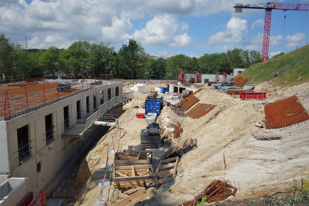 L'avancement du chantier de l'EHPAD des Oiseaux, rue de Vendée à Penhars