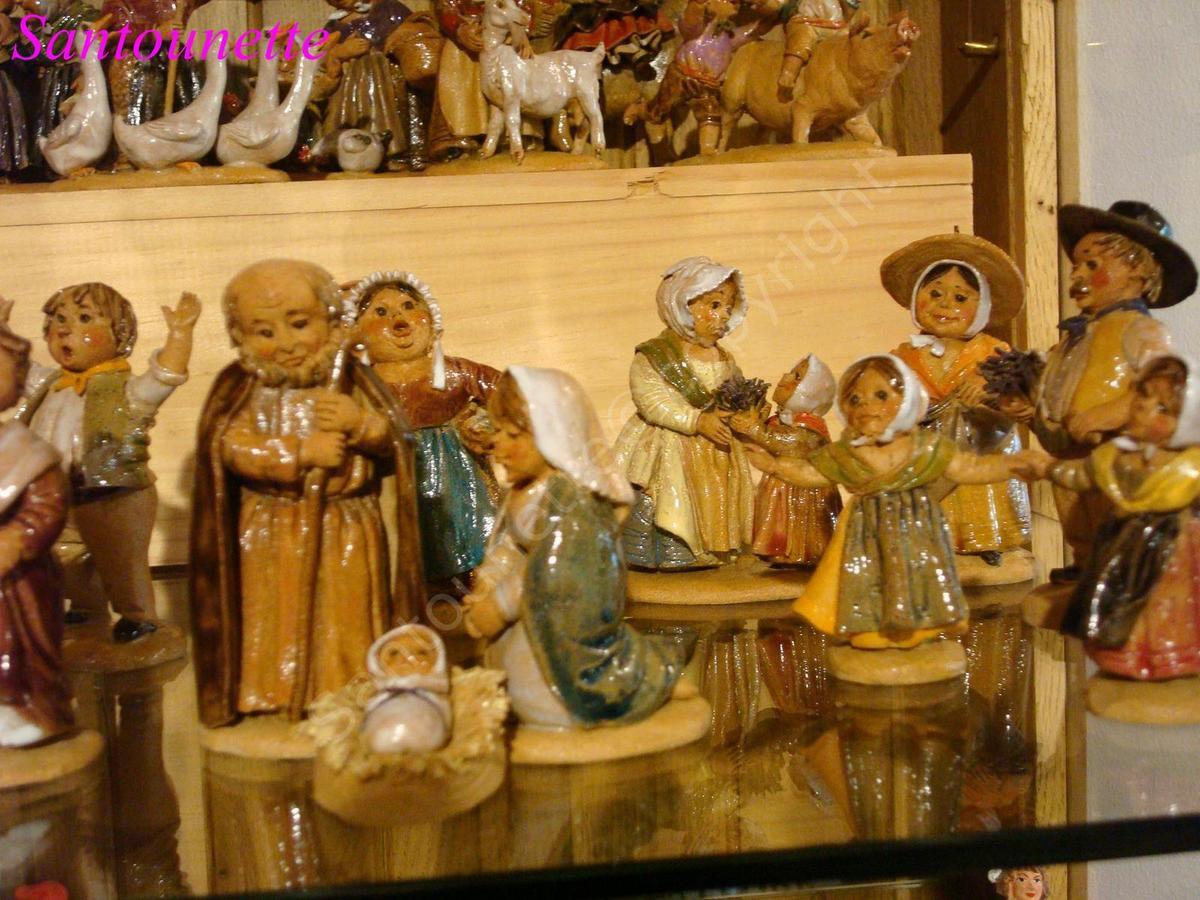 Les santons de la boutique de Fontaine de Vaucluse