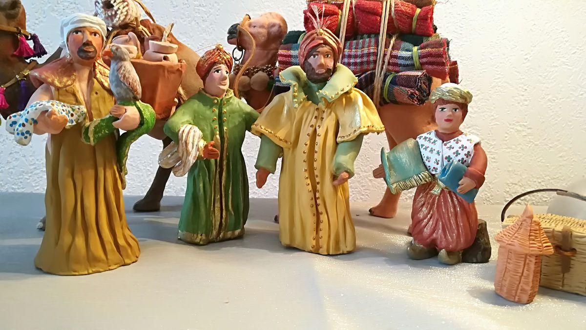 Quelques santons de ma future crèche de Noël