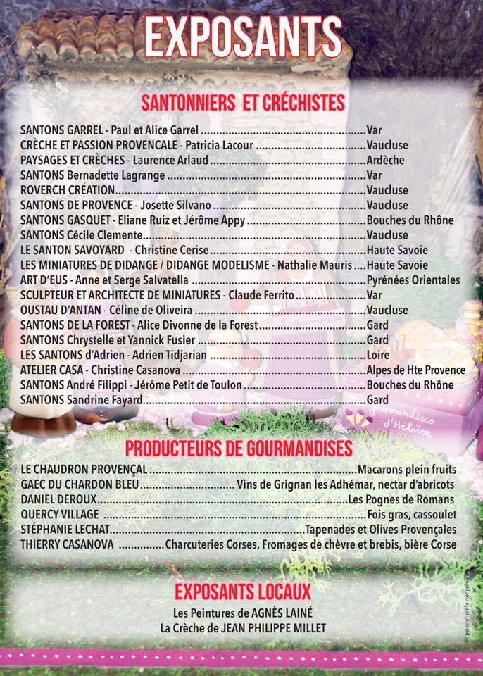 Calendrier des foires aux santons 2018 - La première foire aux santons de La Motte Servolex