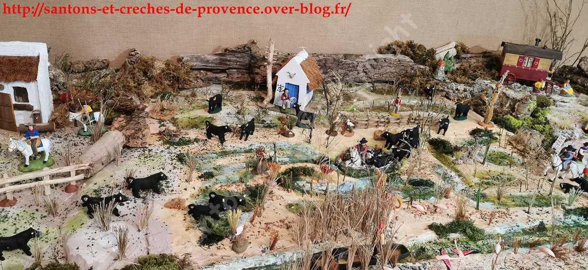 La Camargue dans ma crèche 2019 partie 1/2