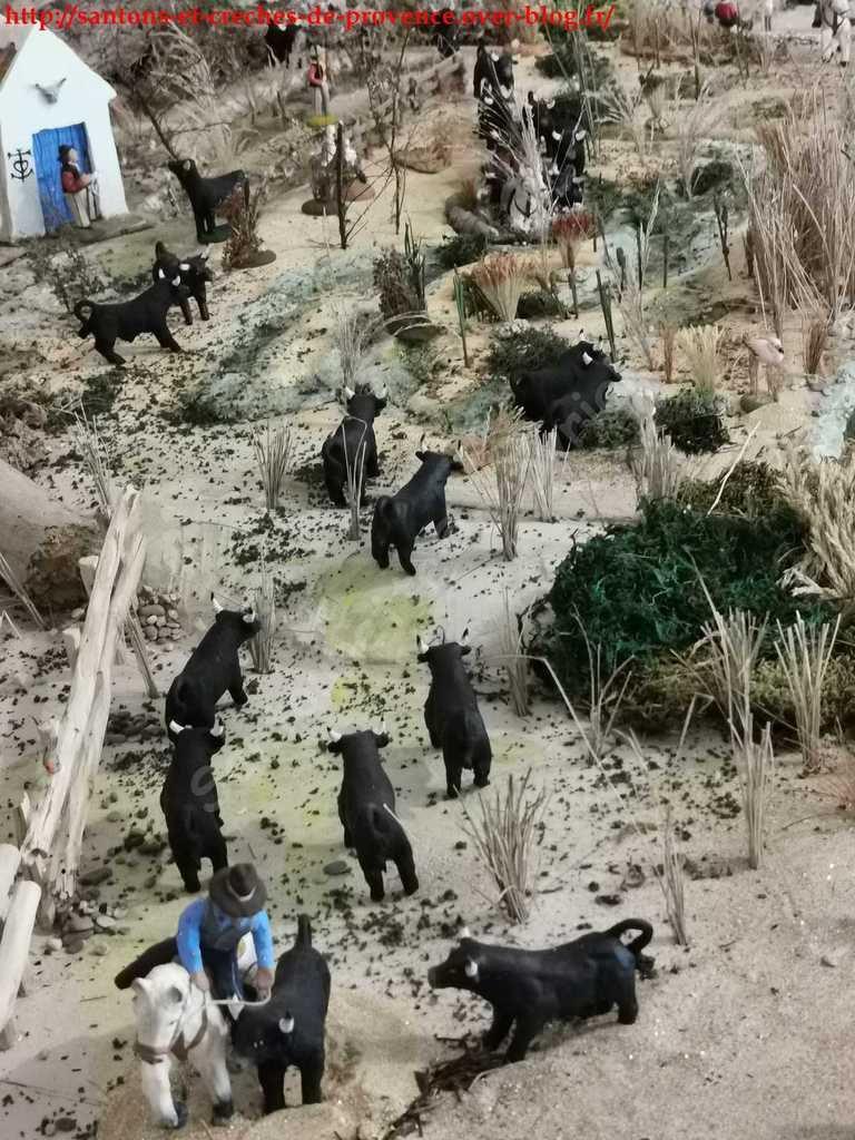 La présence des taureaux est un élément fort du paysage...