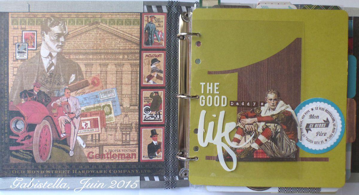 Mon album est confectionné avec deux collections de Graphic 45.