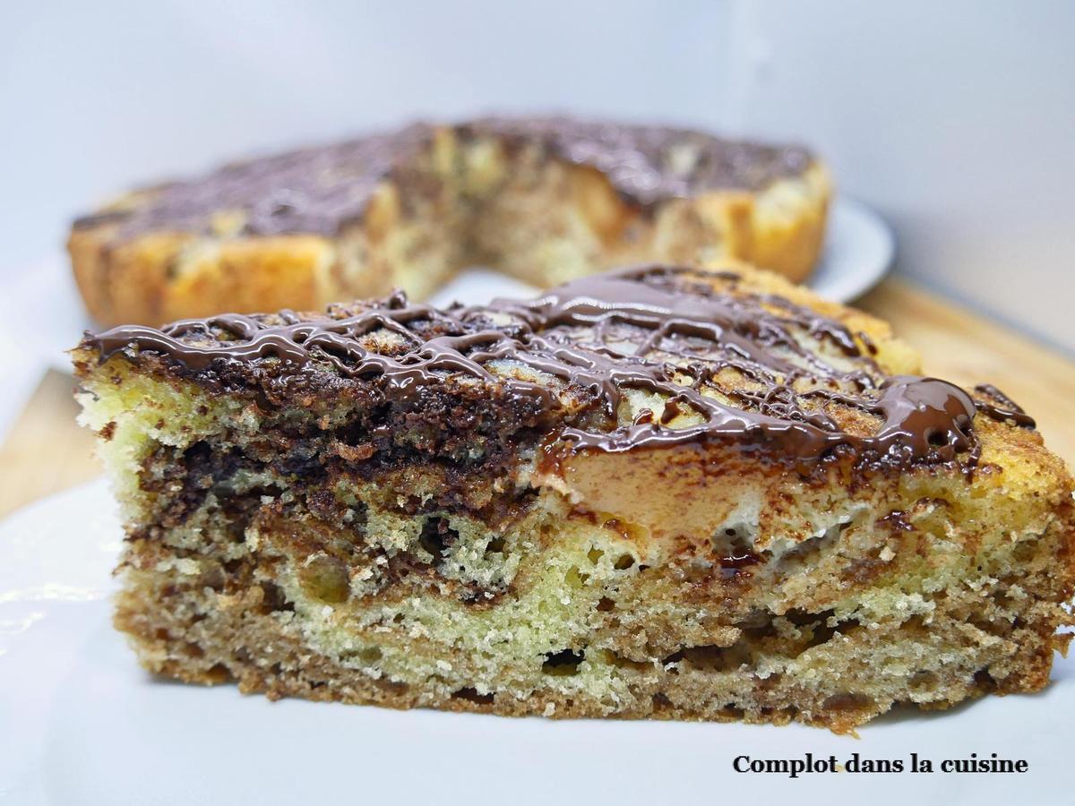 Gâteau renversé poires chocolat