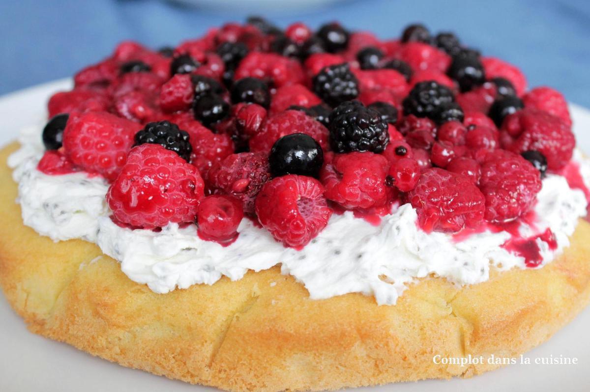 Gâteau fruits rouges et mascarpone