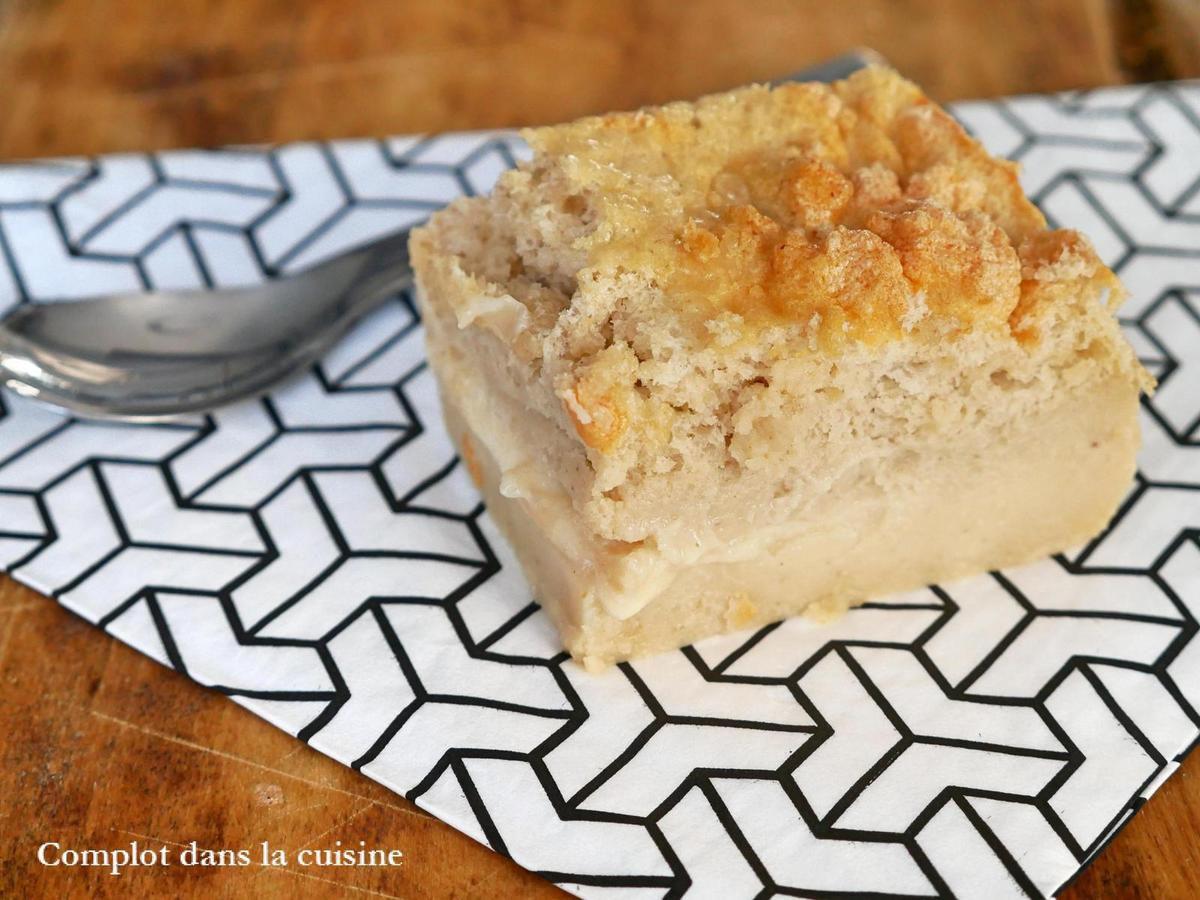 Gâteau magique au Beurre de cacahuète vanille et caramel