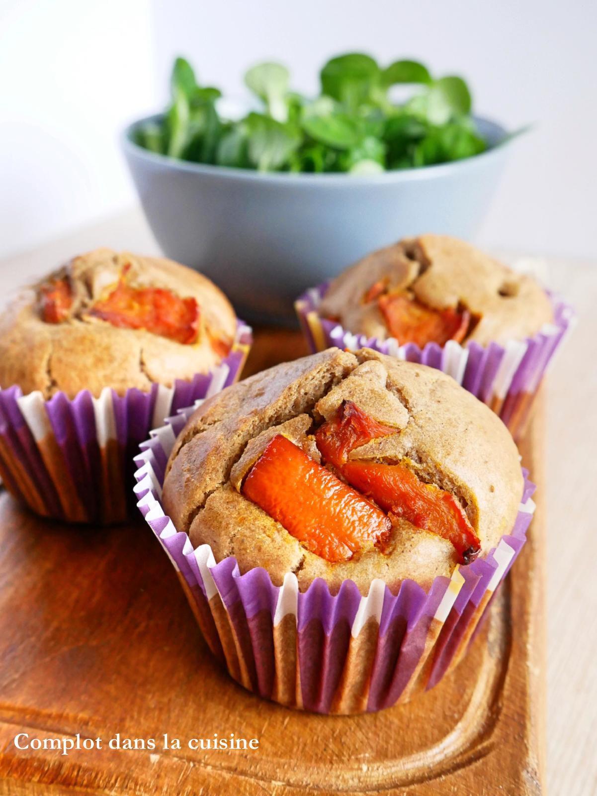 Muffins au potimarron à la farine de châtaigne