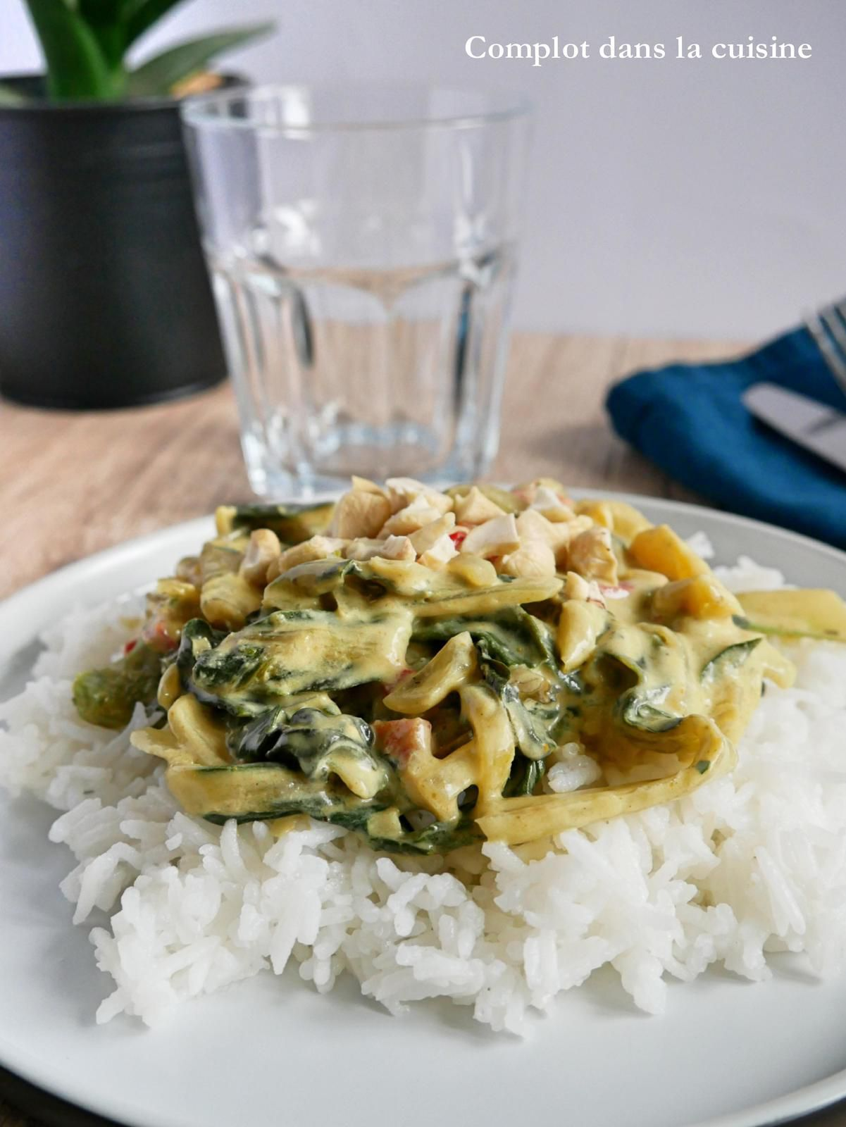 Curry de blettes et trio de poivrons