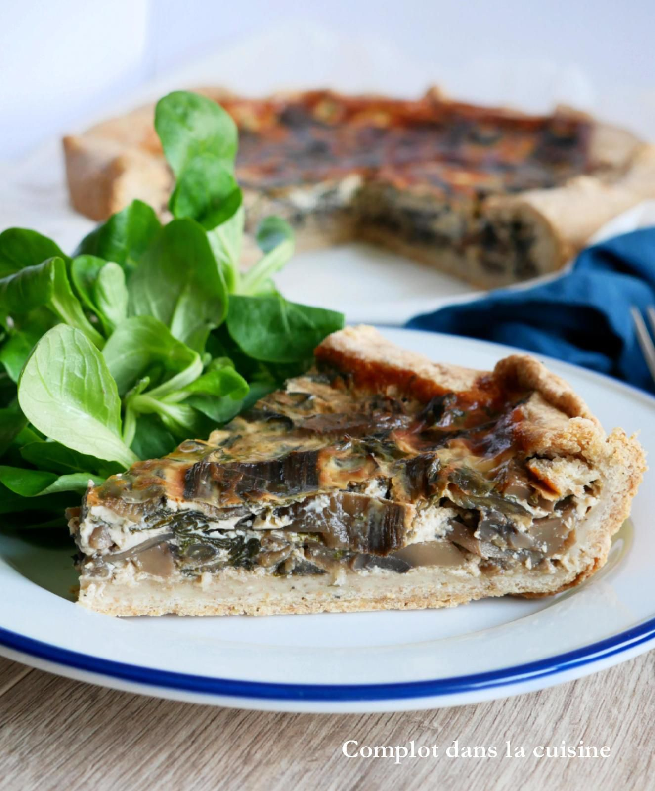 Tarte aux blettes et aux champignons – Vegetables lovers