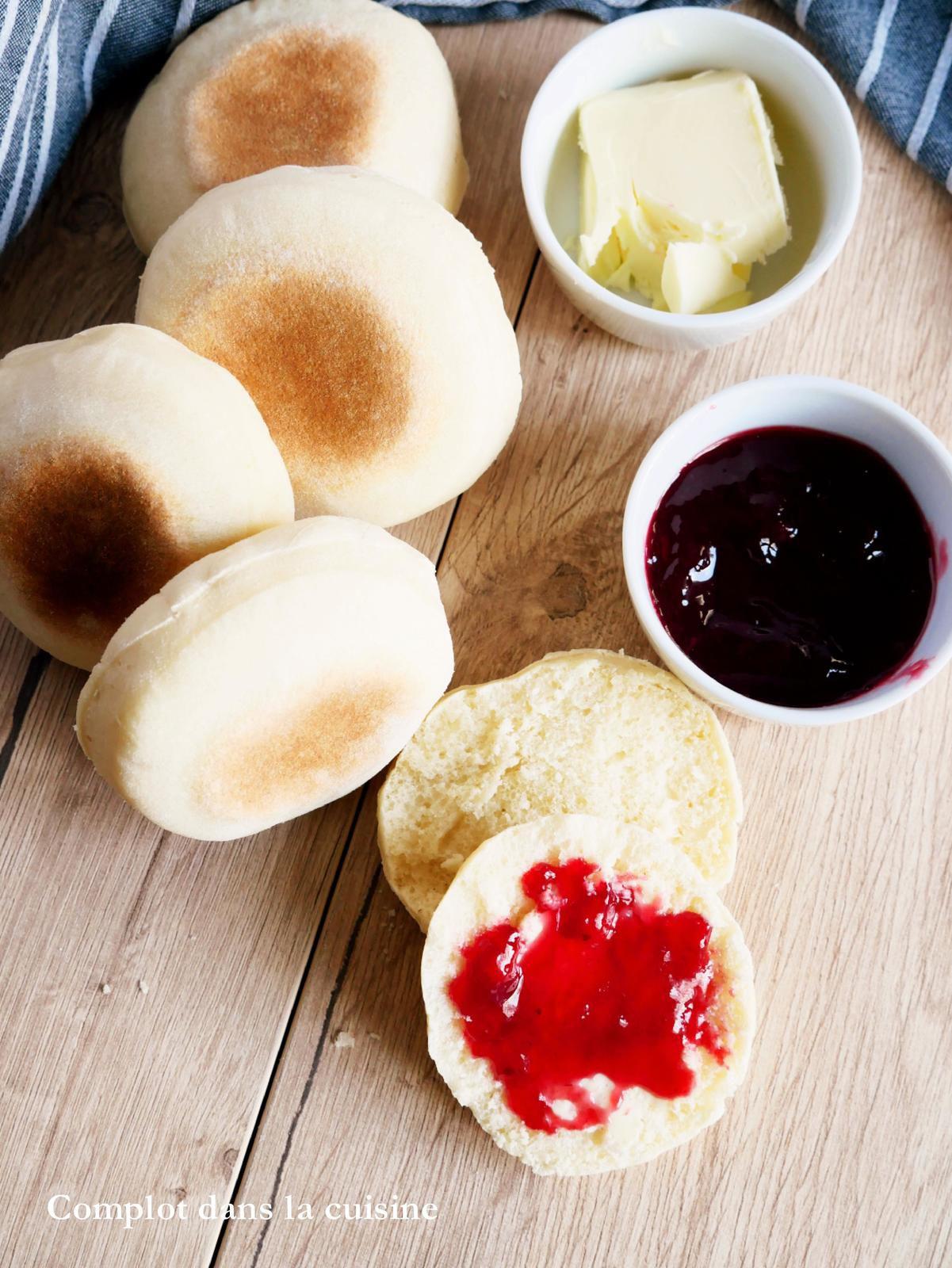 Muffins anglais – idée petit déjeuner, brunch ou apéro dînatoire