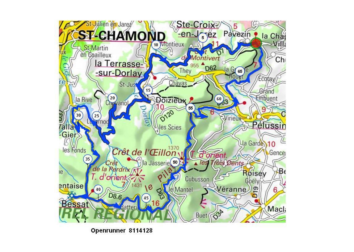 Croix de Chaubouret- Col de l'Oeillon- Randonneurs et Promeneurs-Mercredi 22 Novembre 2017