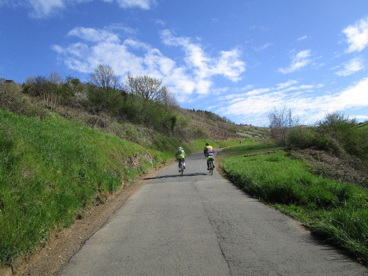 Dure montée à Montmelas