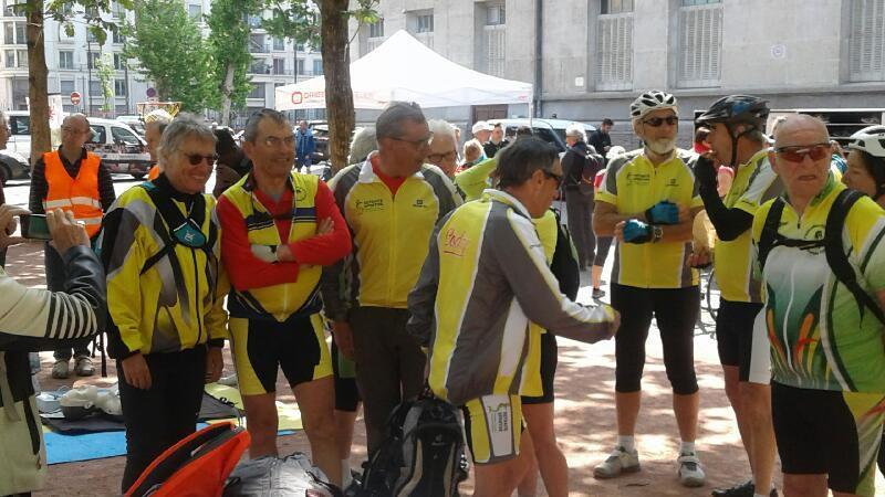Parcours du Coeur Cycliste ---Lyon  5Mai 2018
